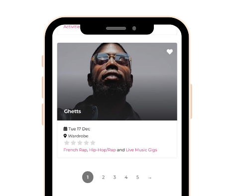 Smartphone Hub Screenshot - Listing Page Music