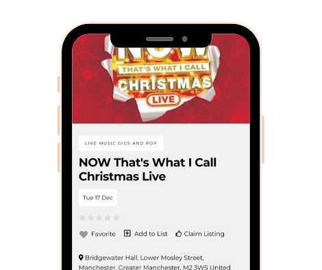 Smartphone Hub Screenshot - Music Event Dec 2019