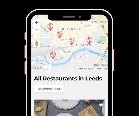 Smartphone Hub Screenshot - Restaurant Map Leeds